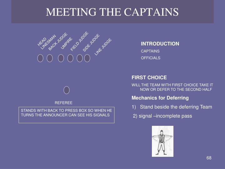 MEETING THE CAPTAINS