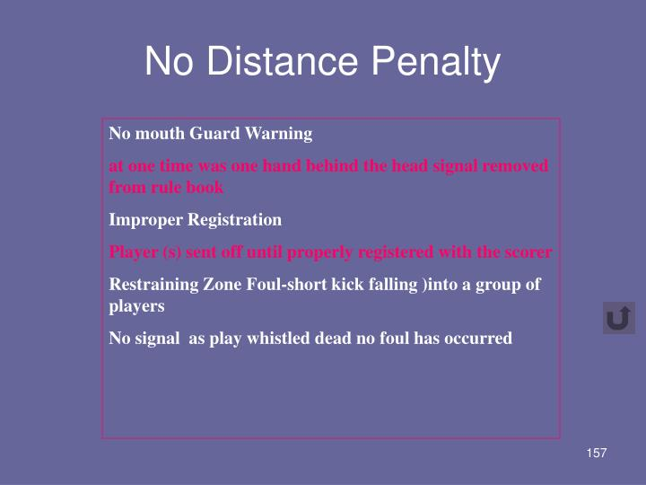 No Distance Penalty