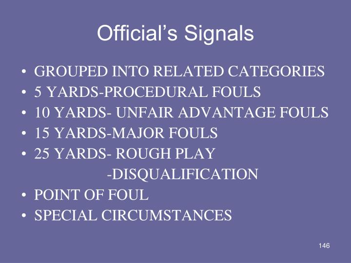 Official's Signals