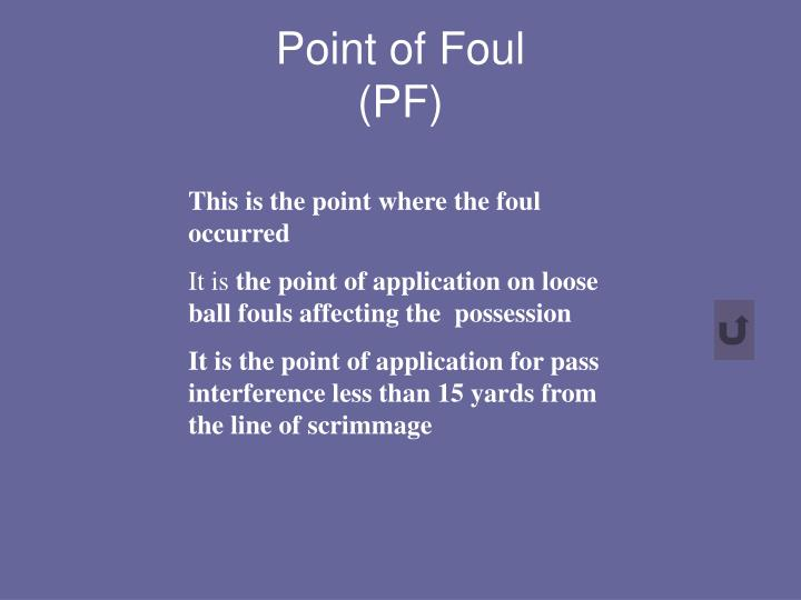 Point of Foul
