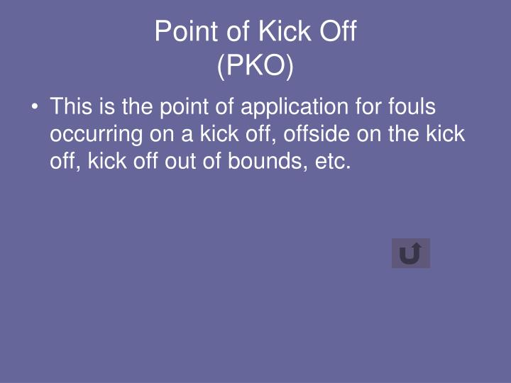 Point of Kick Off
