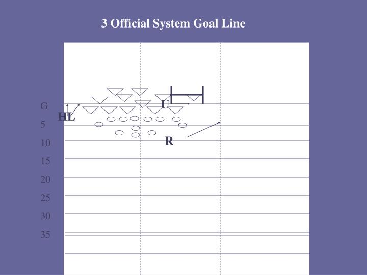 3 Official System Goal Line