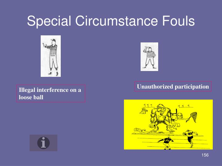Special Circumstance Fouls