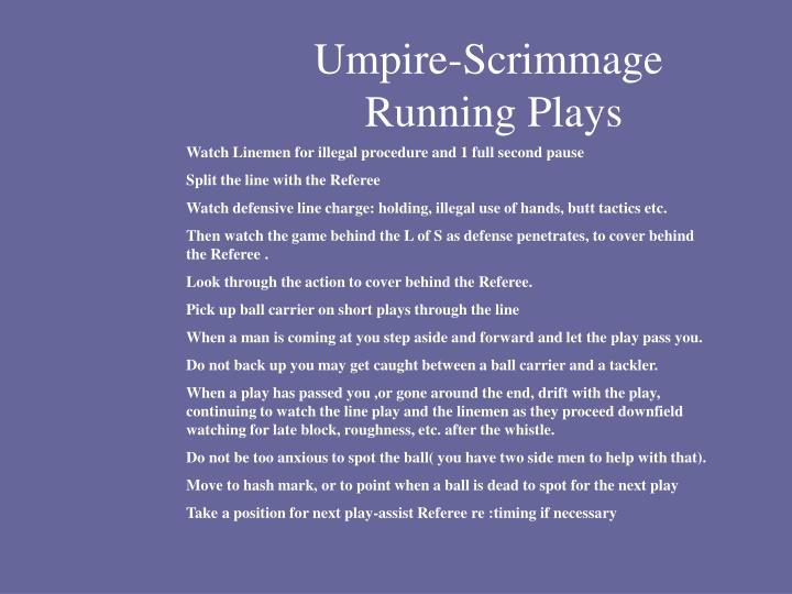 Umpire-Scrimmage