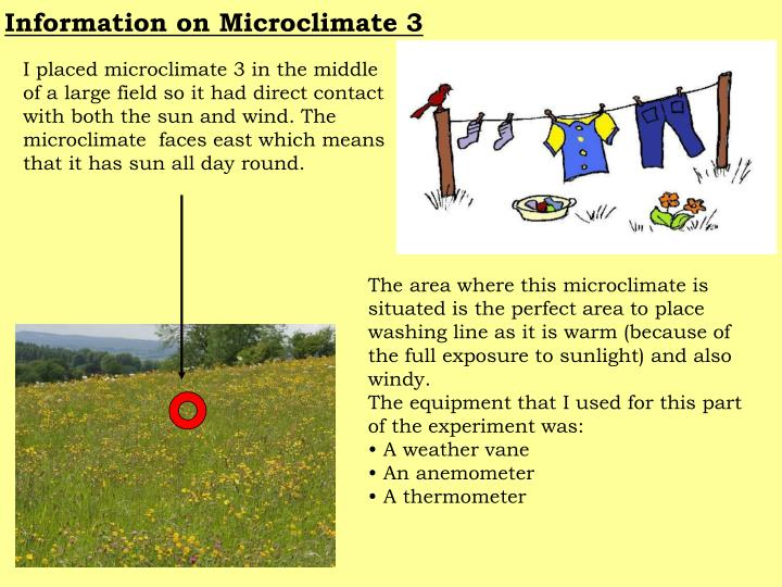 Information on Microclimate 3