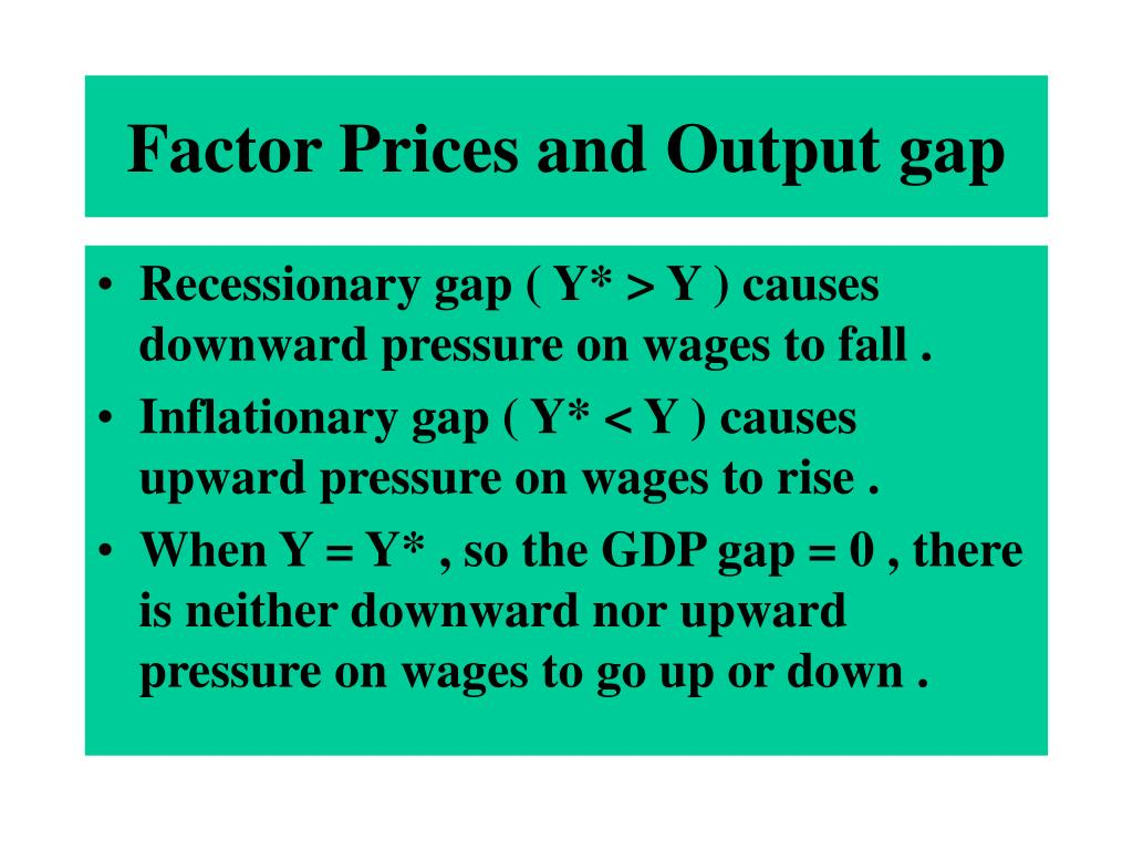 Factor Prices and Output gap