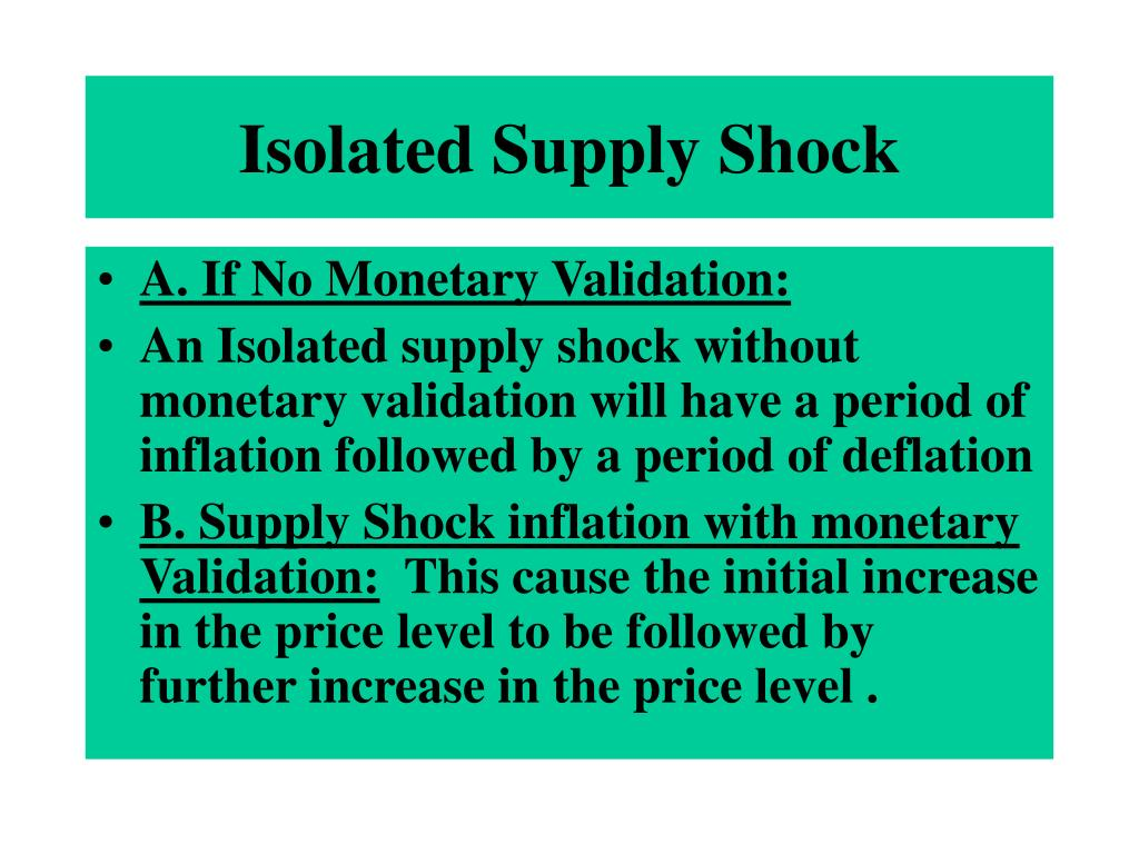 Isolated Supply Shock
