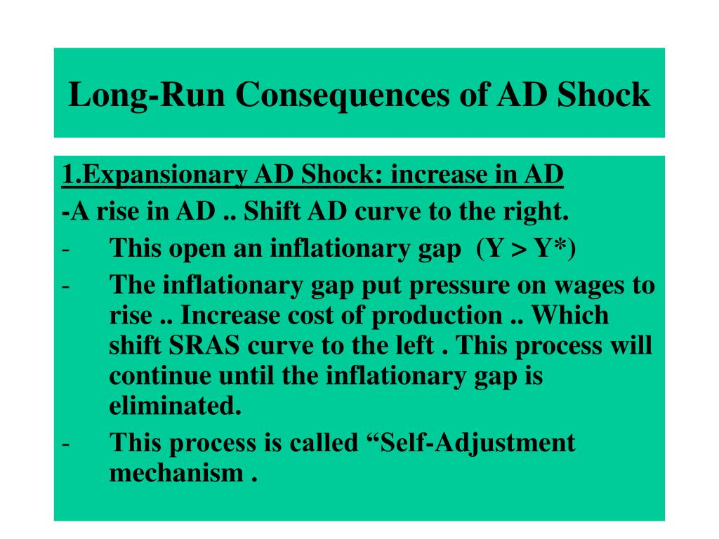 Long-Run Consequences of AD Shock