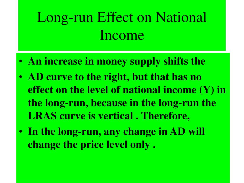 Long-run Effect on National Income