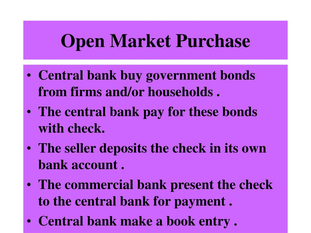 Open Market Purchase