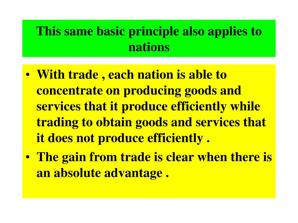 This same basic principle also applies to nations