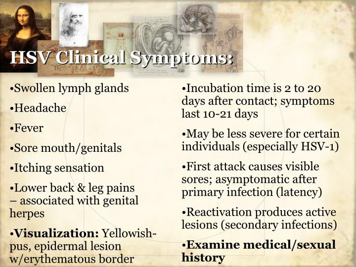 HSV Clinical Symptoms: