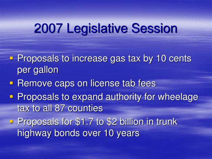 2007 legislative session