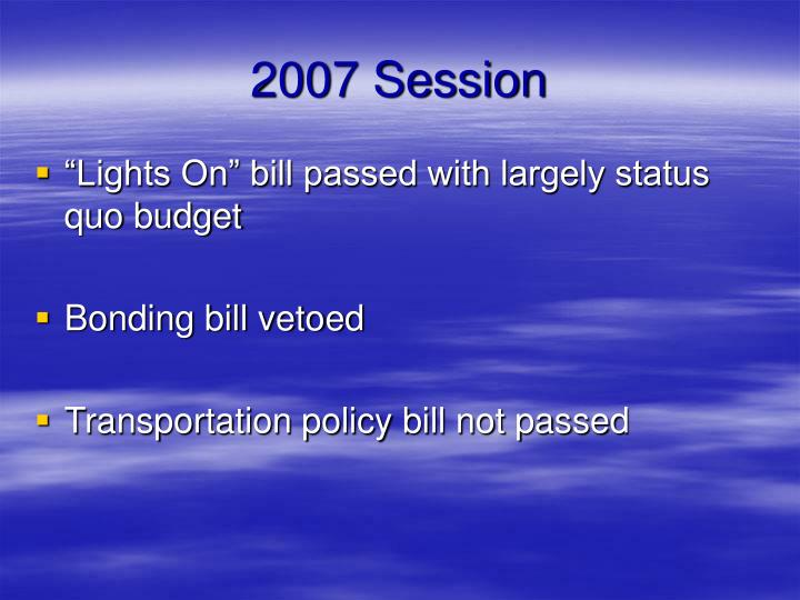2007 Session