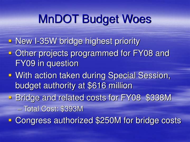 MnDOT Budget Woes