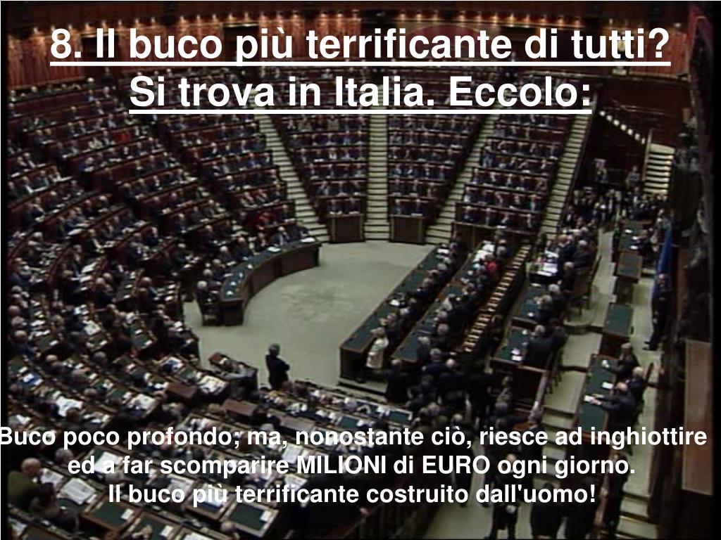 8. Il buco più terrificante di tutti? Si trova in Italia. Eccolo: