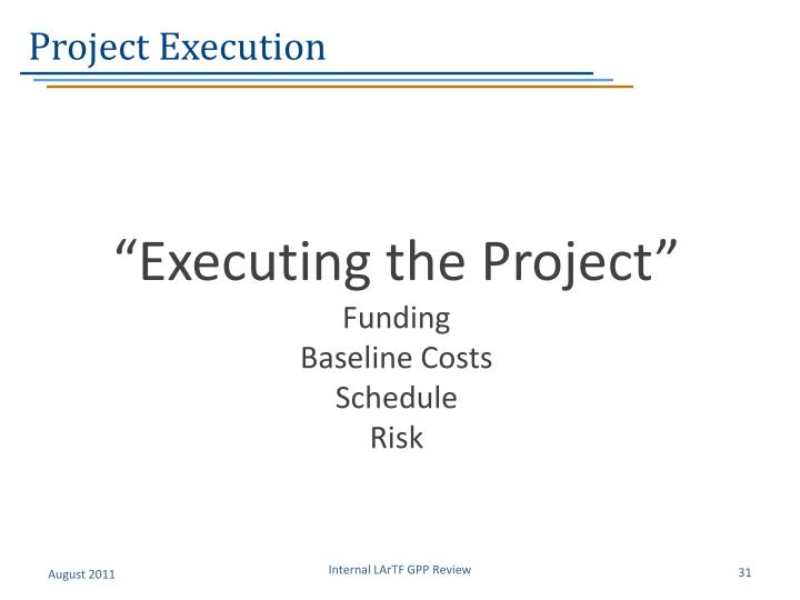 Project Execution