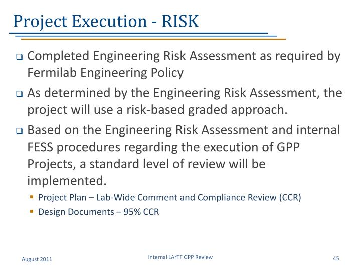 Project Execution - RISK