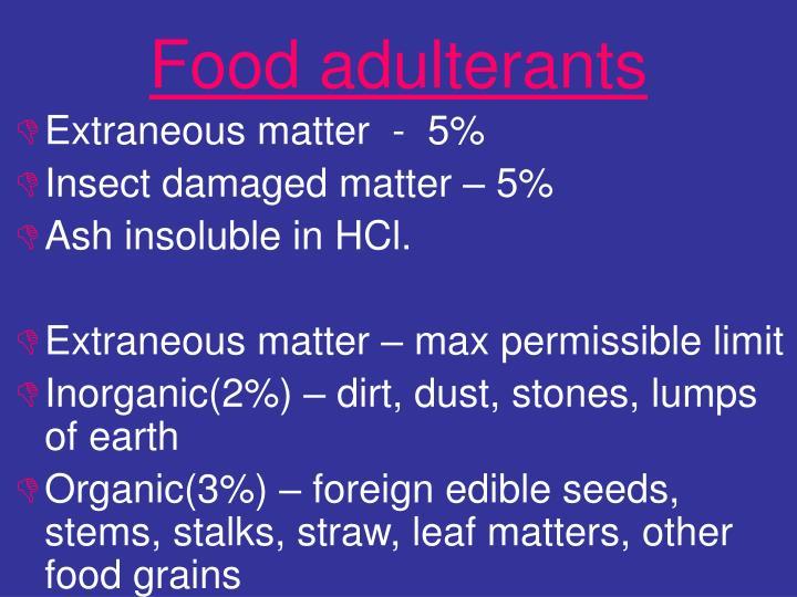 Food adulterants