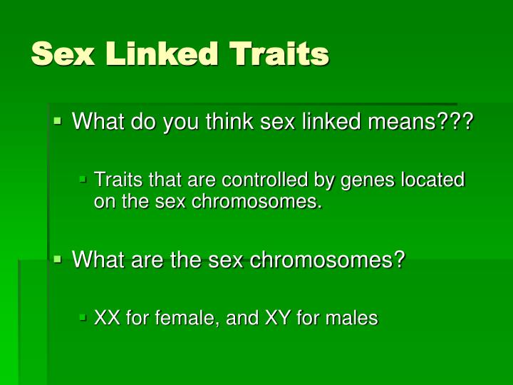 Sex linked problems practice