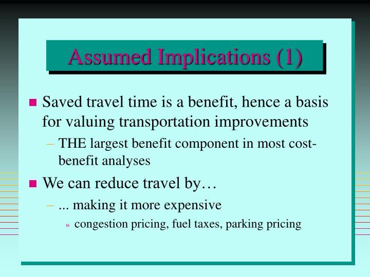Assumed Implications (1)