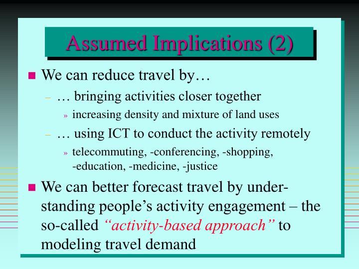 Assumed Implications (2)