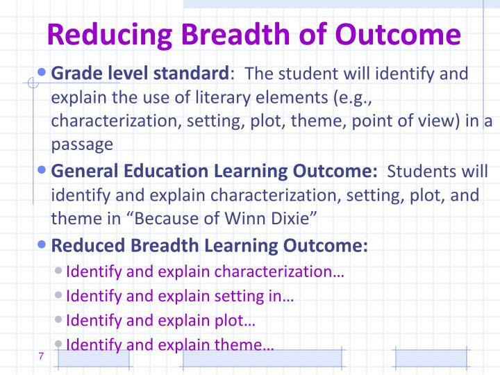 Reducing Breadth of Outcome