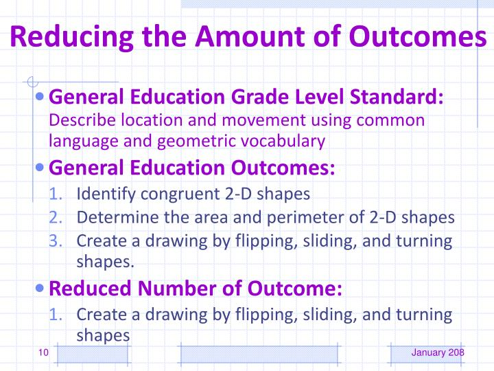 Reducing the Amount of Outcomes