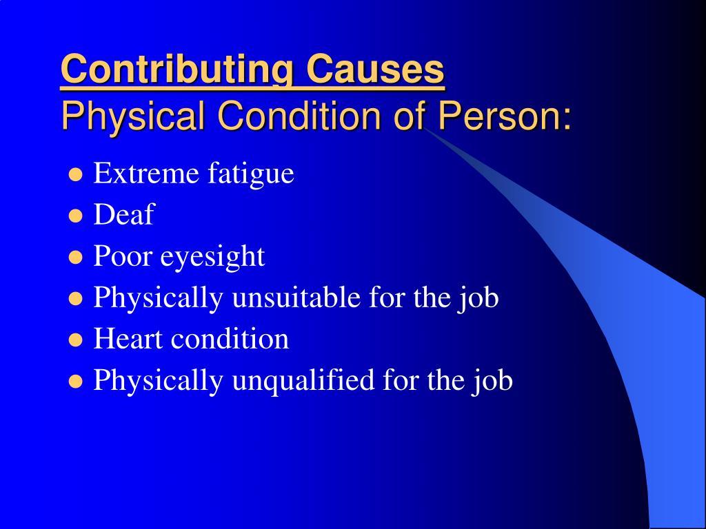 Contributing Causes