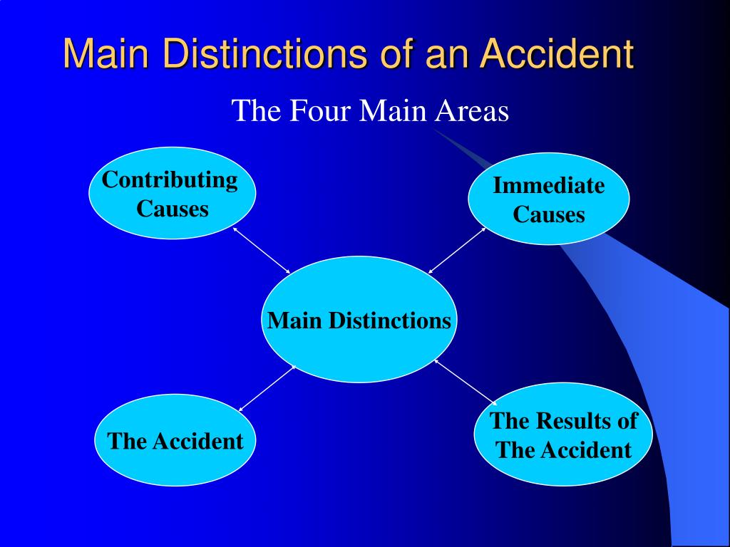 Main Distinctions of an Accident