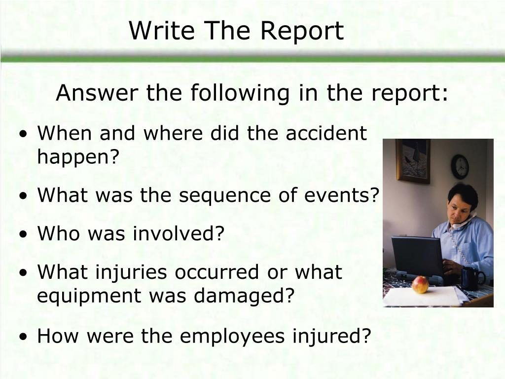 Write The Report