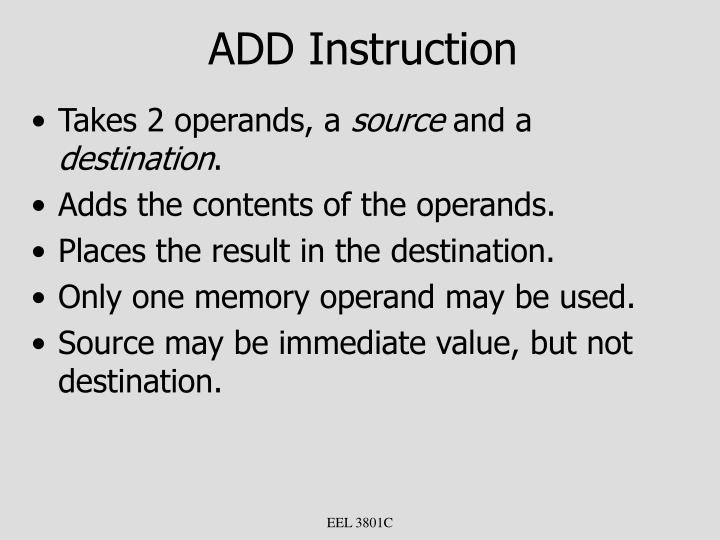 ADD Instruction