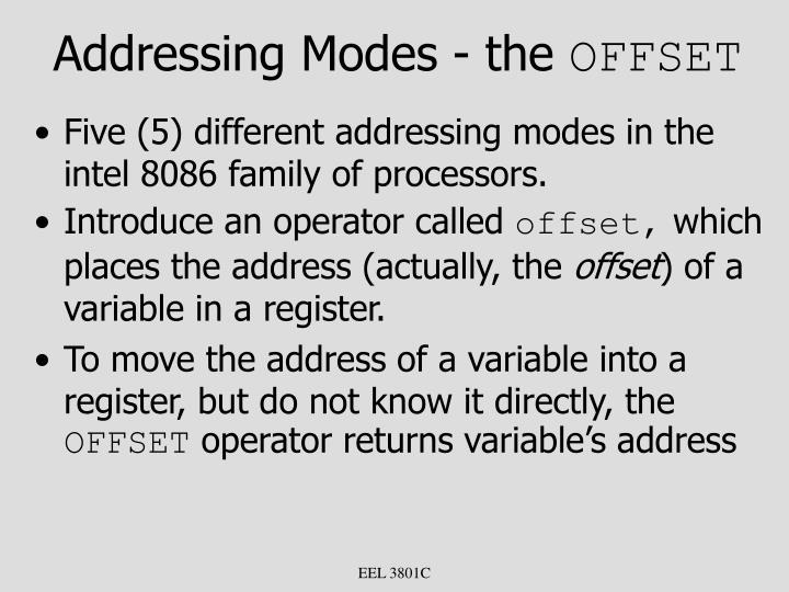 Addressing Modes - the