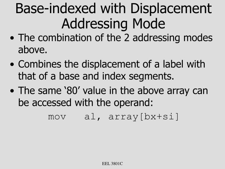 Base-indexed with Displacement Addressing Mode