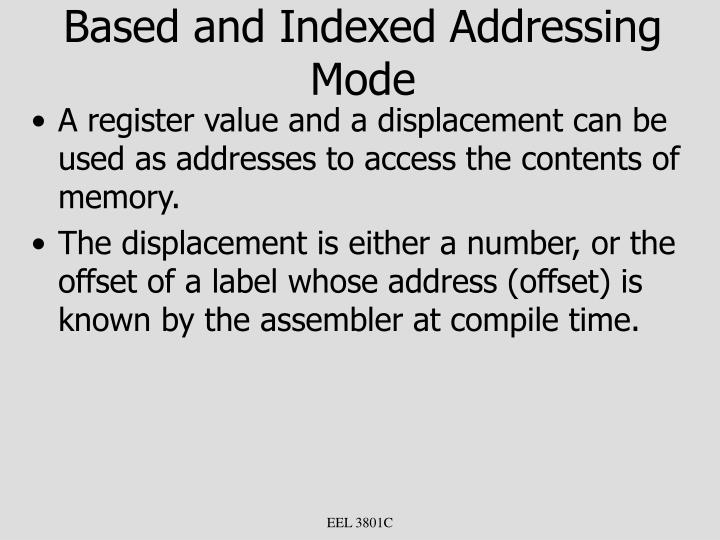 Based and Indexed Addressing Mode
