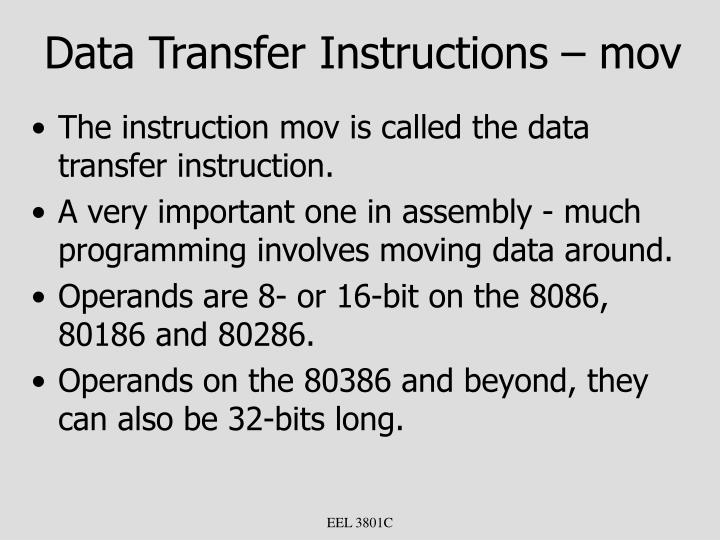 Data Transfer Instructions – mov