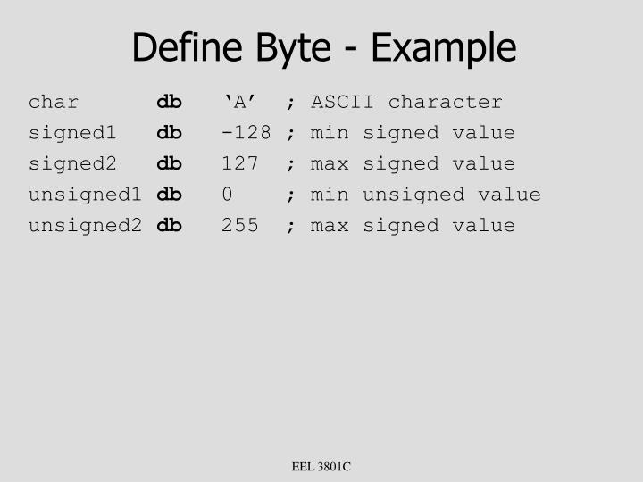 Define Byte - Example