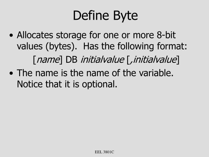 Define Byte