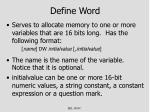 define word