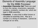 elements of assembly language for the 8086 processor