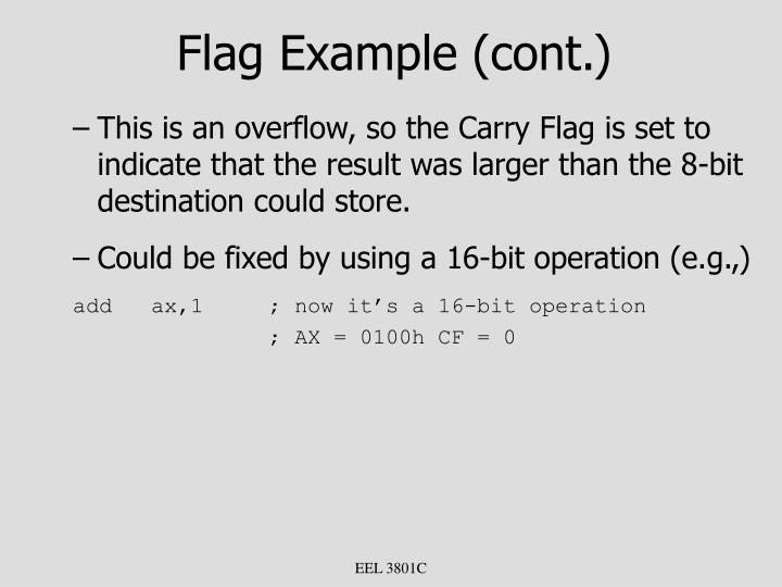 Flag Example (cont.)