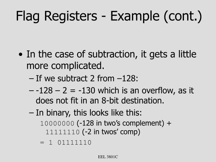 Flag Registers - Example (cont.)