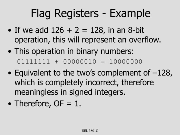 Flag Registers - Example
