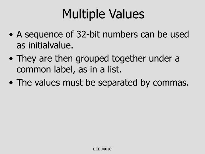 Multiple Values