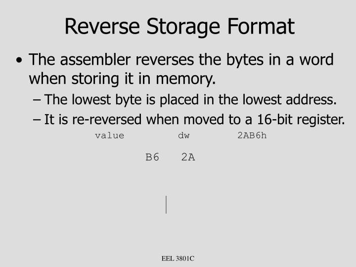 Reverse Storage Format