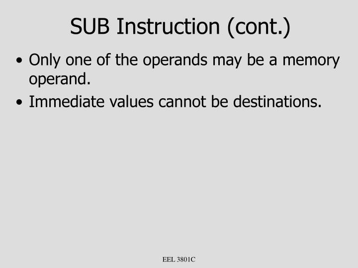 SUB Instruction (cont.)