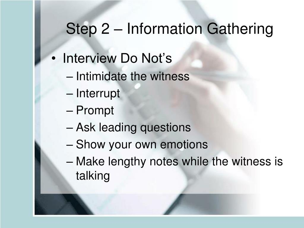 Step 2 – Information Gathering