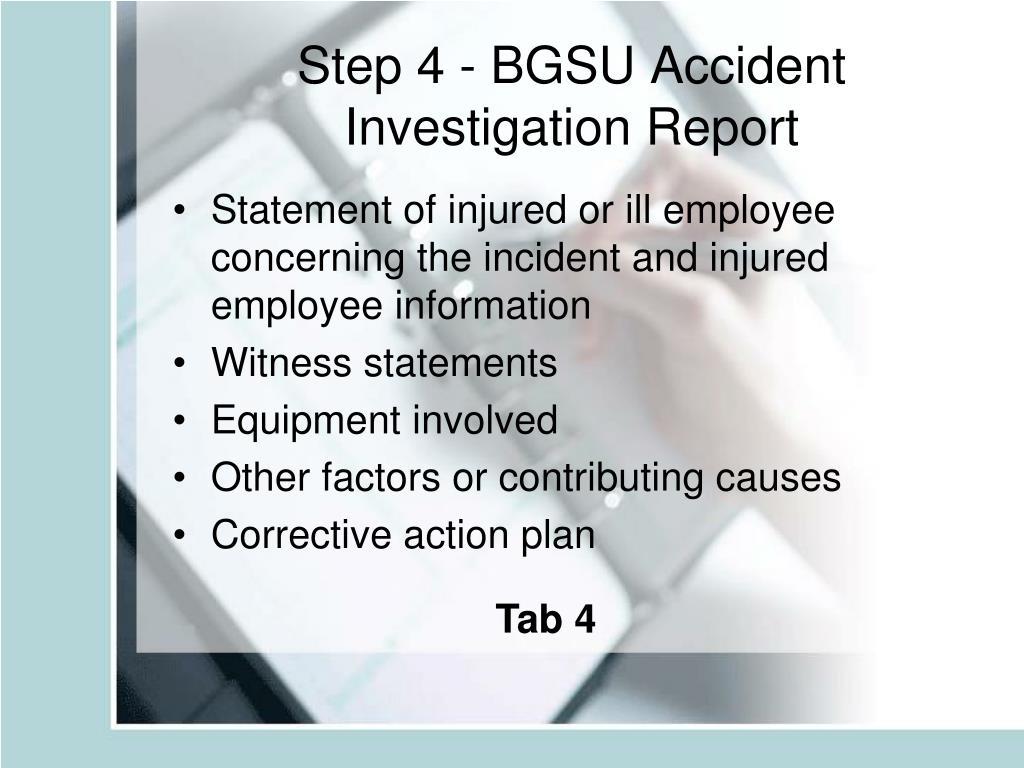 Step 4 - BGSU Accident Investigation Report