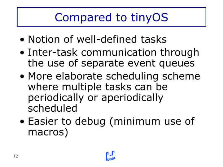 Compared to tinyOS