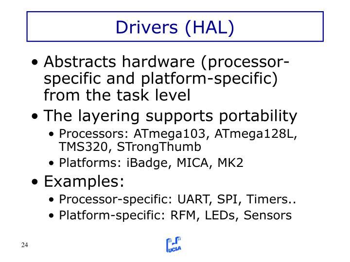 Drivers (HAL)